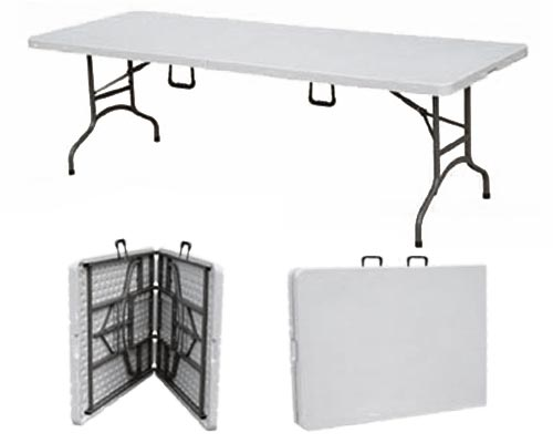 Mesa plegable tipo valija grande distribuidora bnv for Mesas plegables para camping